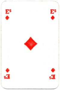 Bornespillekort Denmark Ace of diamonds
