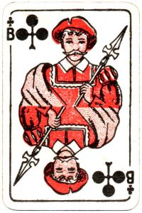 Bornespillekort Denmark Jack of clubs