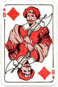 Bornespillekort Denmark Jack of diamonds