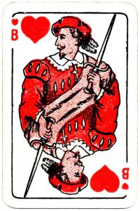 Bornespillekort Denmark Jack of hearts