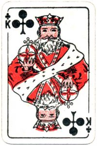 Bornespillekort Denmark King of clubs