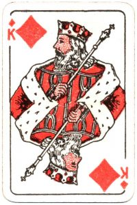 Bornespillekort Denmark King of diamonds