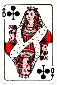 Bornespillekort Denmark Queen of clubs