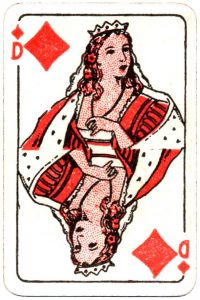 Bornespillekort Denmark Queen of diamonds