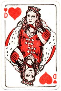 Bornespillekort Denmark Queen of hearts