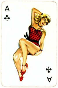 Dandy Pin up Bubble Gum advertisement cards 1956 Ace of clubs 01