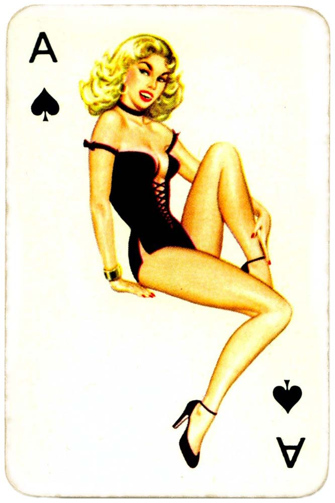 Dandy Pin up Bubble Gum advertisement cards 1956 Ace of spades 01