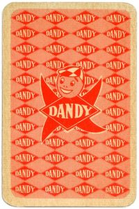Dandy Pin up Bubble Gum advertisement cards 1956 Back of the card