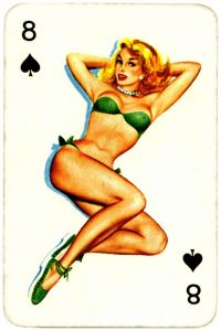 Dandy Pin up Bubble Gum advertisement cards 1956 Eight of spades 07