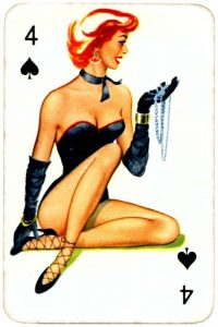Dandy Pin up Bubble Gum advertisement cards 1956 Four of spades 11