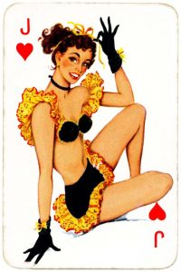 Dandy Pin up Bubble Gum advertisement cards 1956 Jack of hearts 04