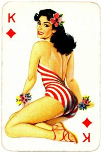 Dandy Pin up Bubble Gum advertisement cards 1956 King of diamonds 02