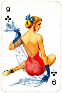 Dandy Pin up Bubble Gum advertisement cards 1956 Nine of clubs 06