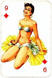 Dandy Pin up Bubble Gum advertisement cards 1956 Nine of diamonds 06