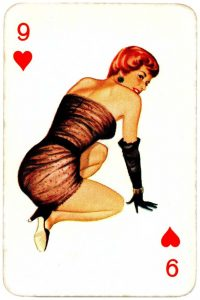 Dandy Pin up Bubble Gum advertisement cards 1956 Nine of hearts 06