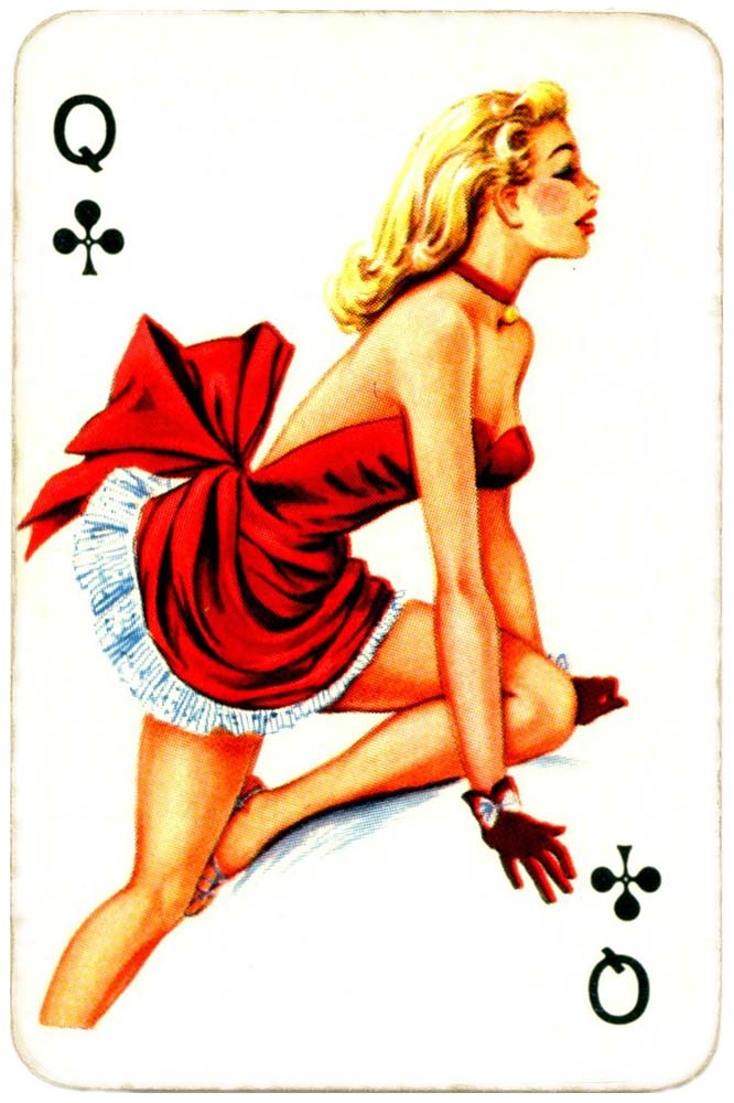 Dandy Pin up Bubble Gum advertisement cards 1956 Queen of clubs 03