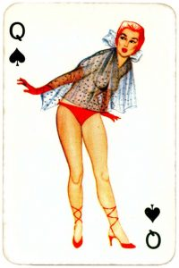 Dandy Pin up Bubble Gum advertisement cards 1956 Queen of spades 03