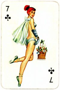 Dandy Pin up Bubble Gum advertisement cards 1956 Seven of clubs 08
