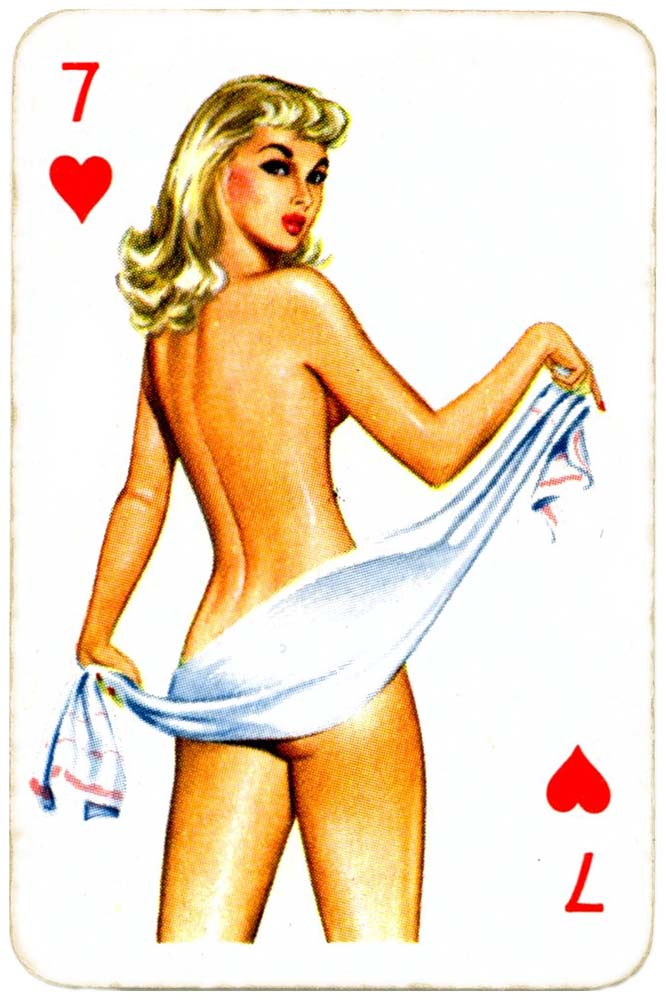 Dandy Pin up Bubble Gum advertisement cards 1956 Seven of hearts 08