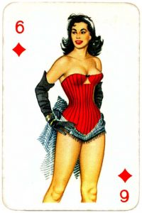 Dandy Pin up Bubble Gum advertisement cards 1956 Six of diamonds 09