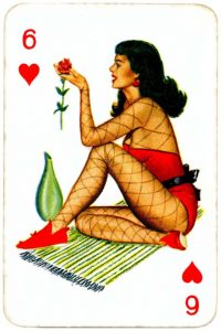 Dandy Pin up Bubble Gum advertisement cards 1956 Six of hearts 09