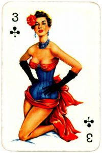 Dandy Pin up Bubble Gum advertisement cards 1956 Three of clubs 12