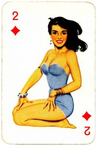 Dandy Pin up Bubble Gum advertisement cards 1956 Two of diamonds 13