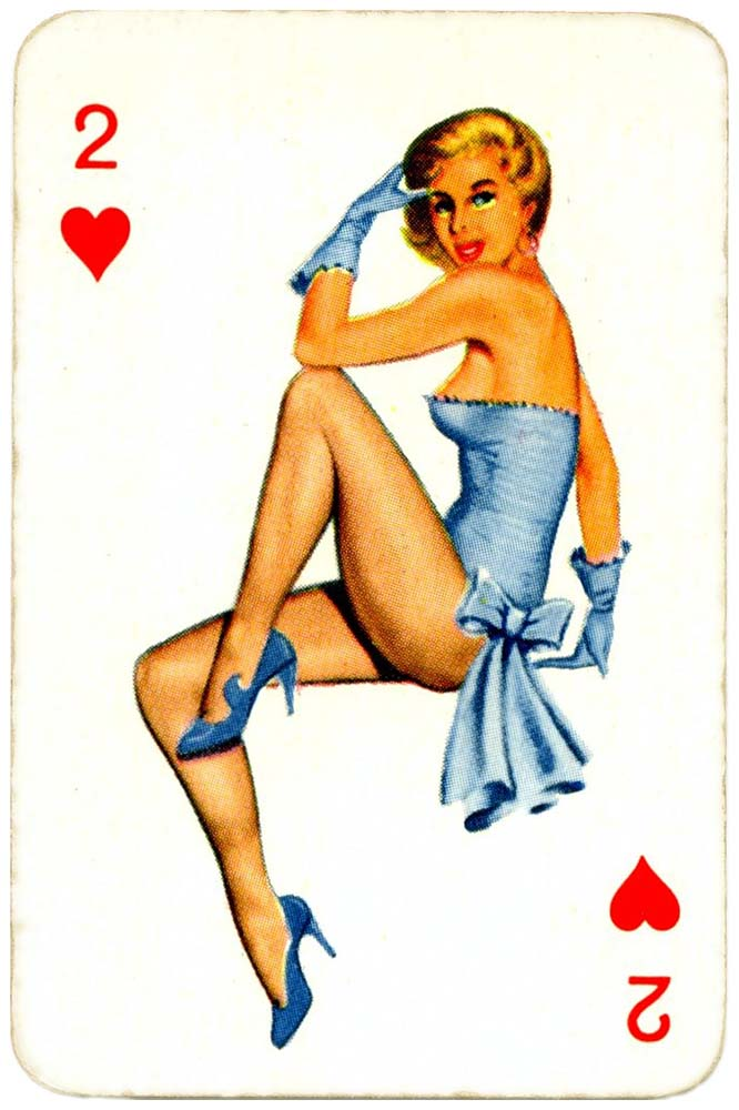 Dandy Pin up Bubble Gum advertisement cards 1956 Two of hearts 13