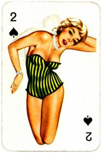 Dandy Pin up Bubble Gum advertisement cards 1956 Two of spades 13