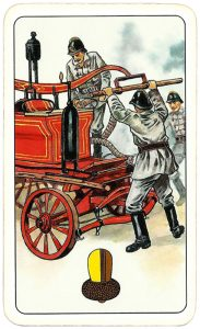 Hasičské Fire fighters cards from Czechia Ace of clubs 08