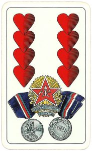 Hasičské Fire fighters cards from Czechia Eight of hearts 02