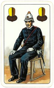 Hasičské Fire fighters cards from Czechia Jack of clubs 06