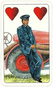 Hasičské Fire fighters cards from Czechia Jack of hearts 06