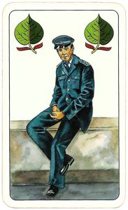 Hasičské Fire fighters cards from Czechia Jack of spades 06