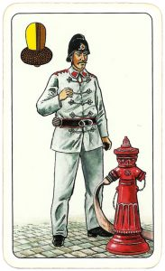 Hasičské Fire fighters cards from Czechia King of clubs 07