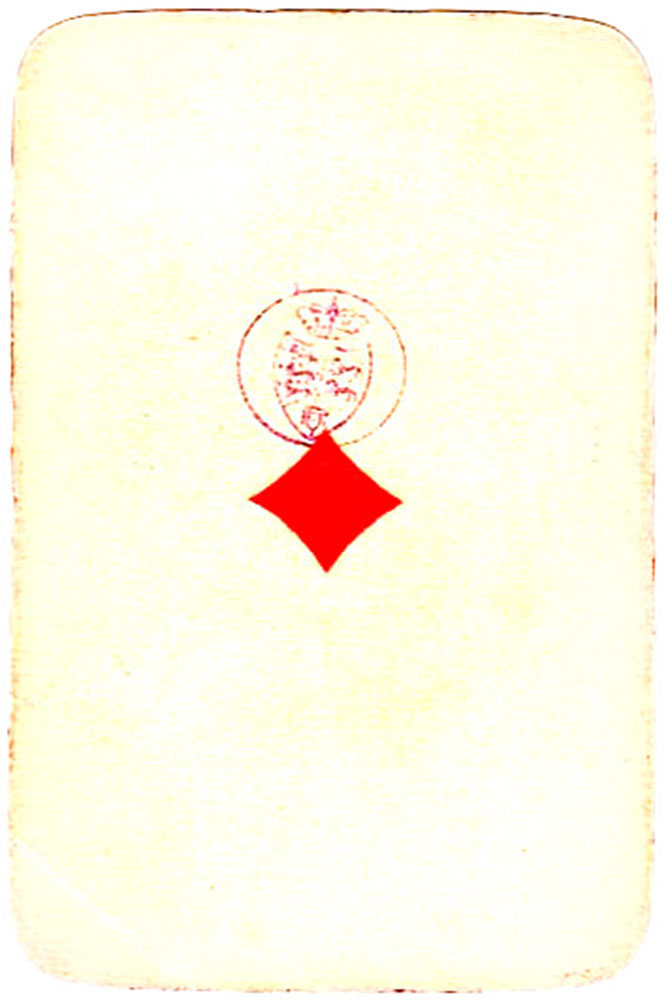 Holmblad pattern D Kopenhagen vintage cards Ace of diamonds 01