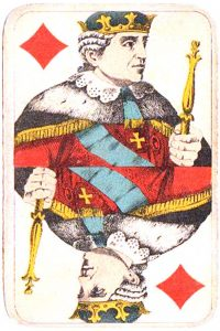 Holmblad pattern D Kopenhagen vintage cards King of diamonds 03