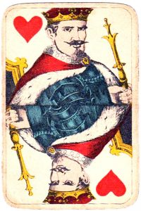 Holmblad pattern D Kopenhagen vintage cards King of hearts 03