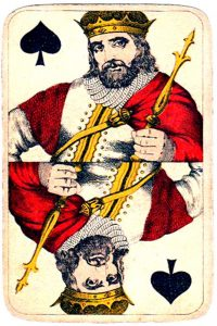 Holmblad pattern D Kopenhagen vintage cards King of spades 03