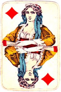 Holmblad pattern D Kopenhagen vintage cards Queen of diamonds 04
