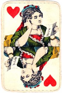 Holmblad pattern D Kopenhagen vintage cards Queen of hearts 04