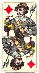 Holmblads Spillekort Forretning Danish cards Jack of diamonds 02