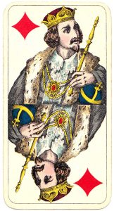 Holmblads Spillekort Forretning Danish cards King of diamonds 03