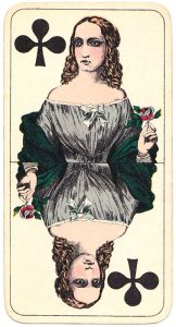 Holmblads Spillekort Forretning Danish cards Queen of clubs 04