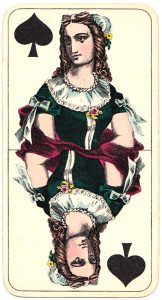 Holmblads Spillekort Forretning Danish cards Queen of spades 04