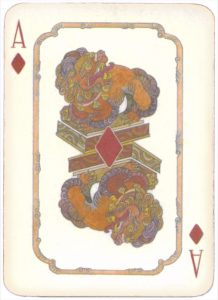Mongolian National Economical Bank lovely graphic design Ace of diamonds 10