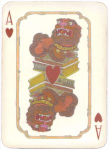 Mongolian National Economical Bank lovely graphic design Ace of hearts 10