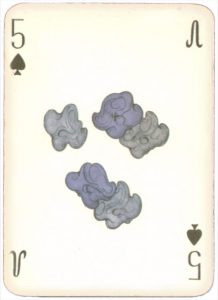 Mongolian National Economical Bank lovely graphic design Five of spades 04