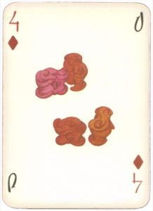 Mongolian National Economical Bank lovely graphic design Four of diamonds 03