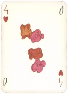 Mongolian National Economical Bank lovely graphic design Four of hearts 03